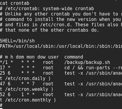 how to run a script in crontab every minute