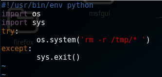 contents of python file which cleans up some files