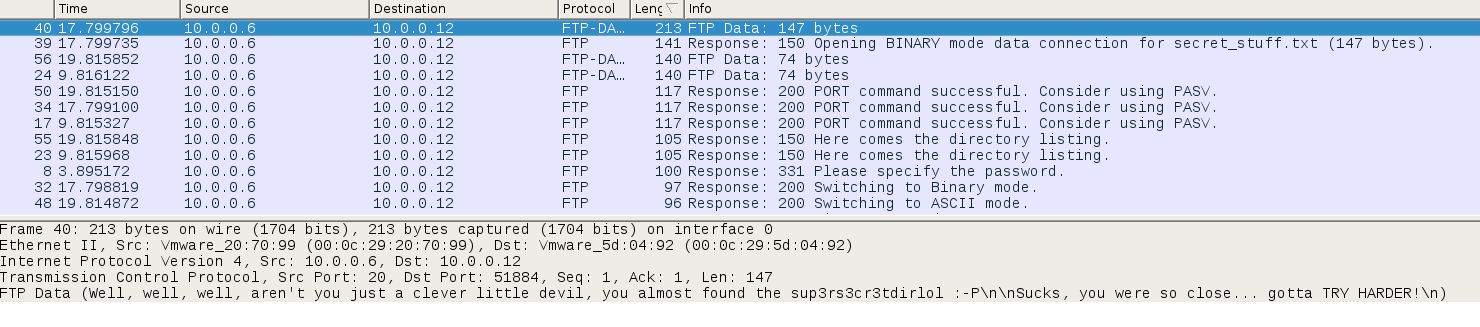 wireshark message